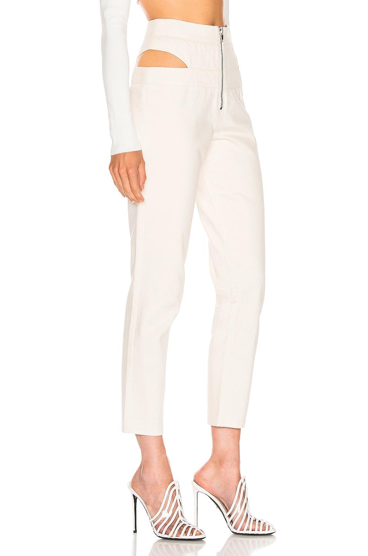 Image 2 of Zeynep Arcay Cutout Denim Pant in Off White