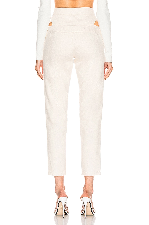 Image 3 of Zeynep Arcay Cutout Denim Pant in Off White