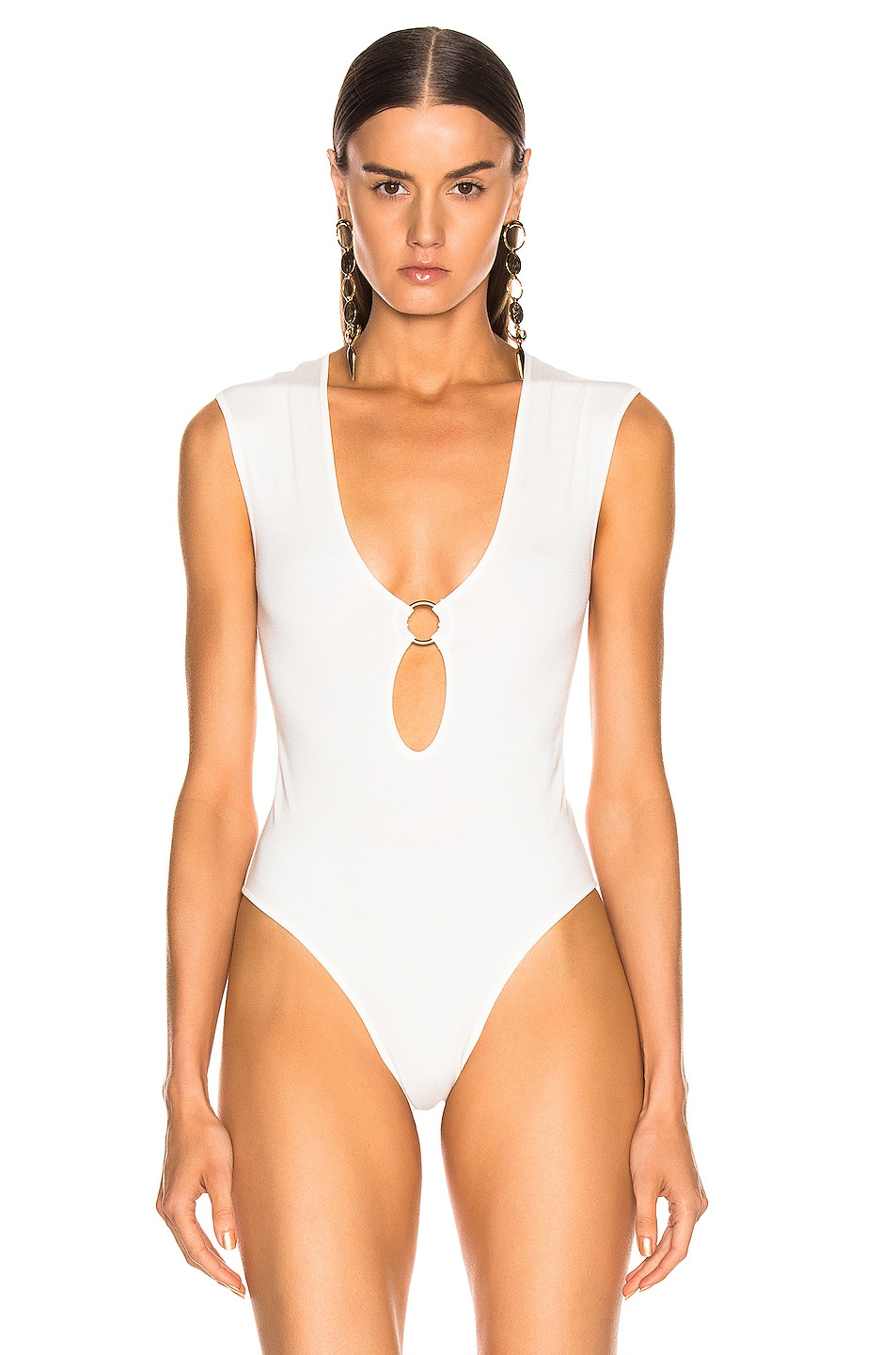 Image 2 of Zeynep Arcay Ring Knit Bodysuit in White