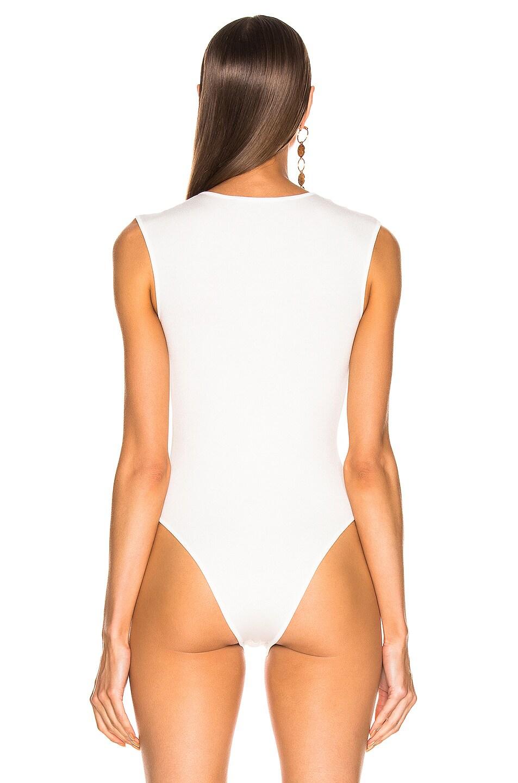 Image 4 of Zeynep Arcay Ring Knit Bodysuit in White