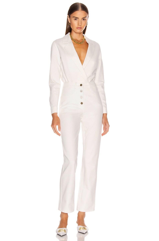 Image 5 of Zeynep Arcay Denim Bodysuit in White