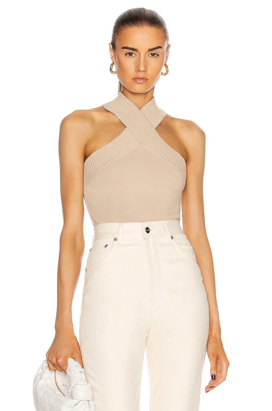 Image 1 of Zeynep Arcay X Knit Bodysuit in Beige