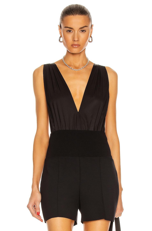 Image 1 of Zeynep Arcay Helen Bodysuit in Black