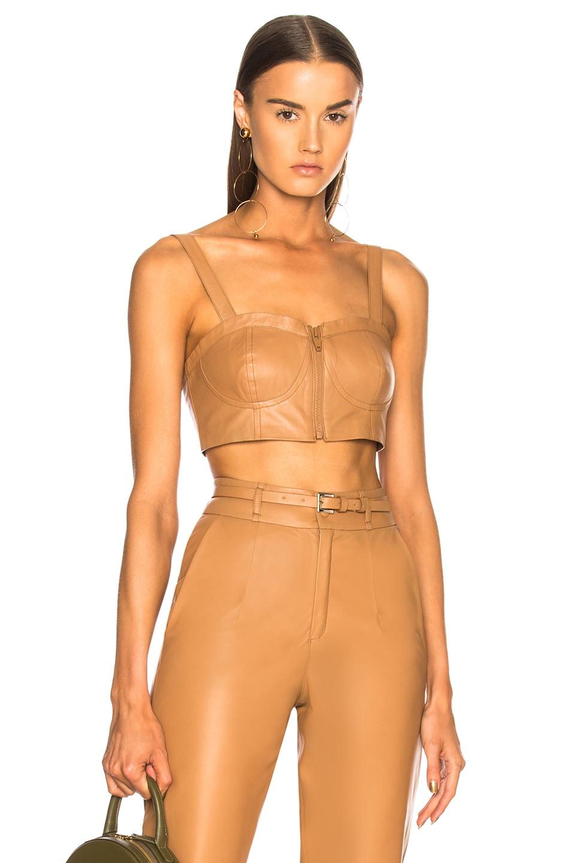 ZEYNEP ARCAY Zeynep Arcay Leather Bustier In Brown