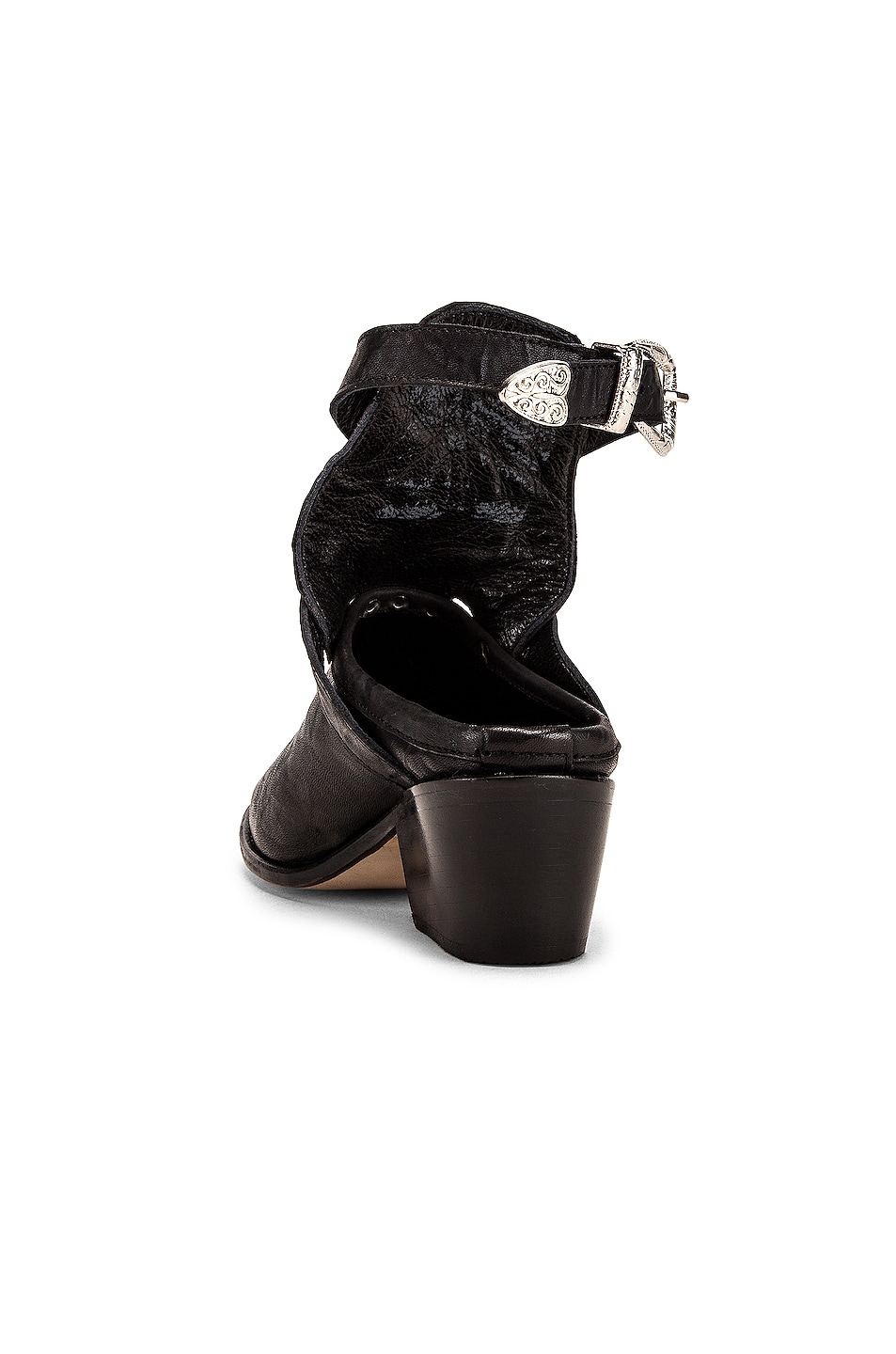 Image 3 of Zeynep Arcay Leather Cowboy Sobo Ankle Boots in Black