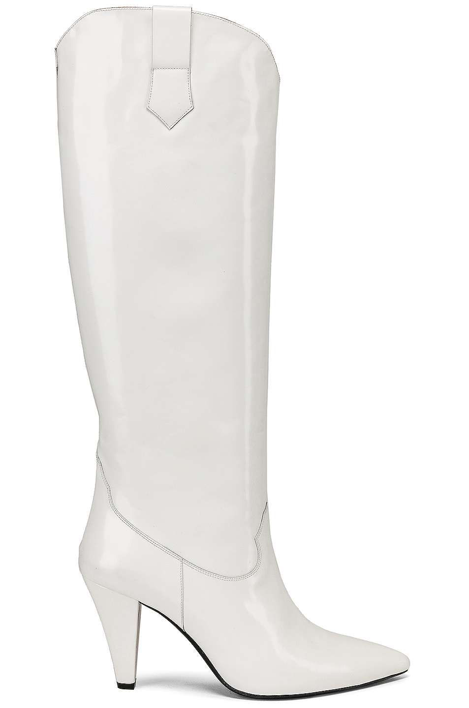 Image 1 of Zeynep Arcay Patent Leather Knee High Boots in White