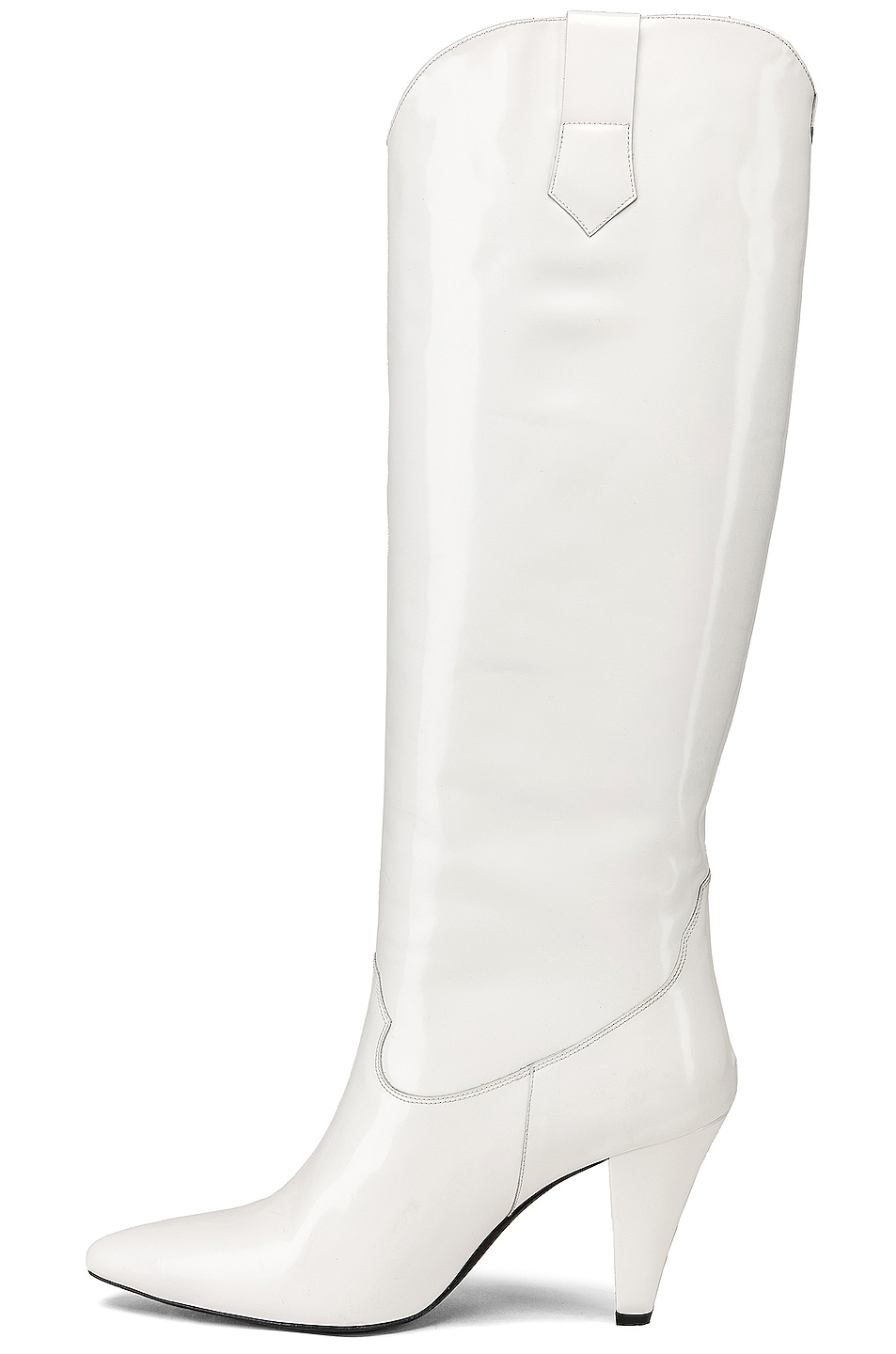 Image 5 of Zeynep Arcay Patent Leather Knee High Boots in White