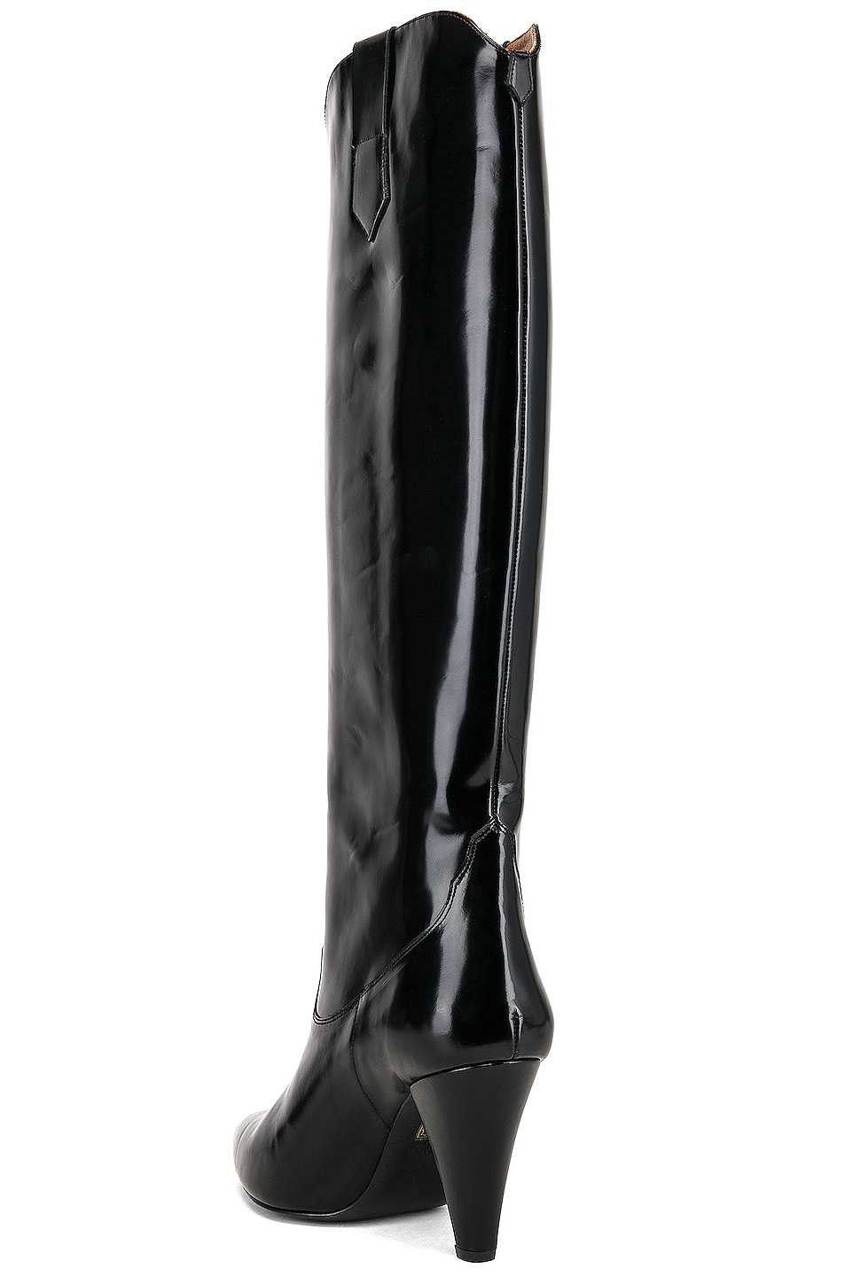 Image 3 of Zeynep Arcay Patent Leather Knee High Boots in Black