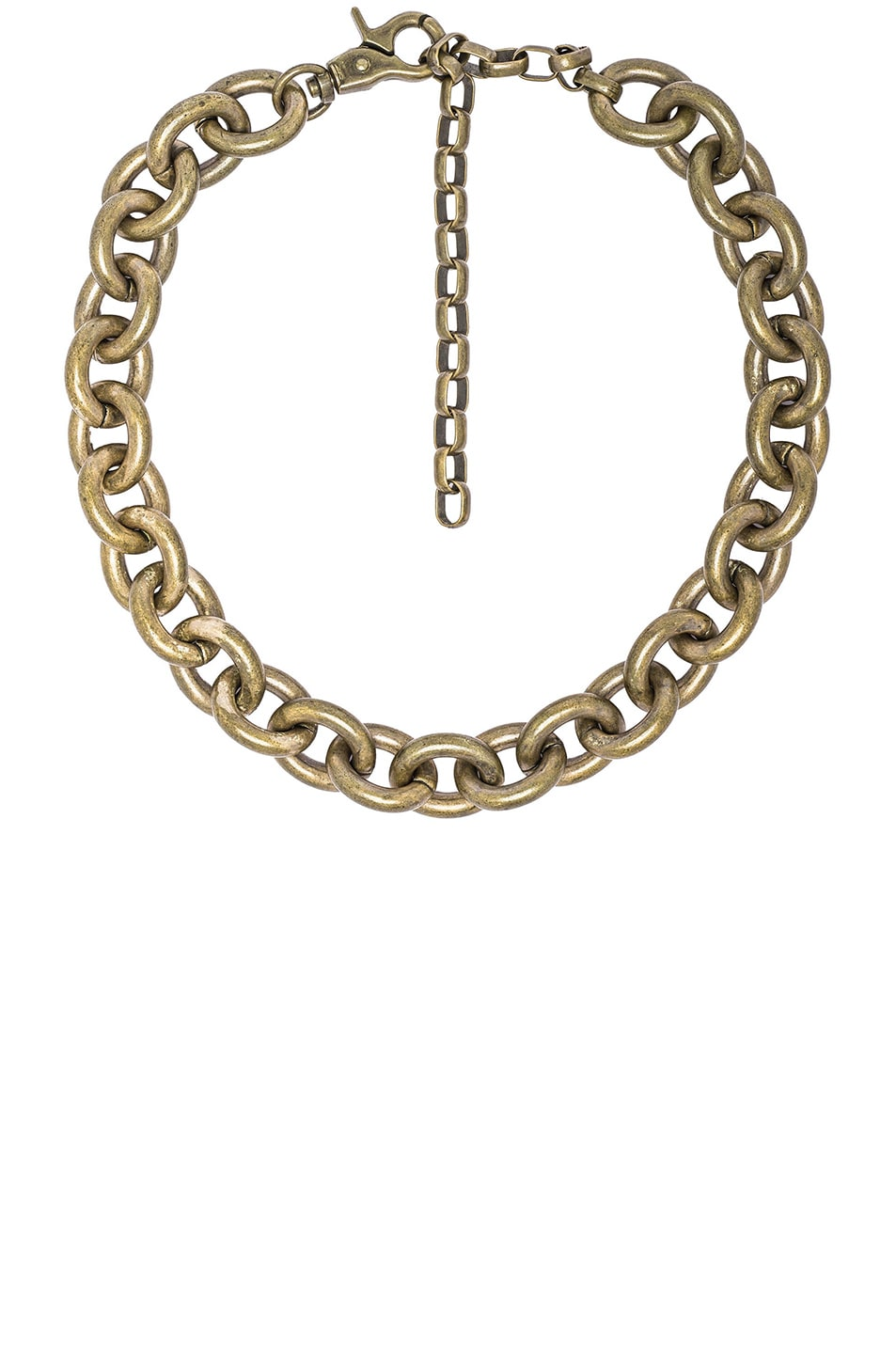 Image 1 of Zimmermann Link Chain Necklace in Antique Brass