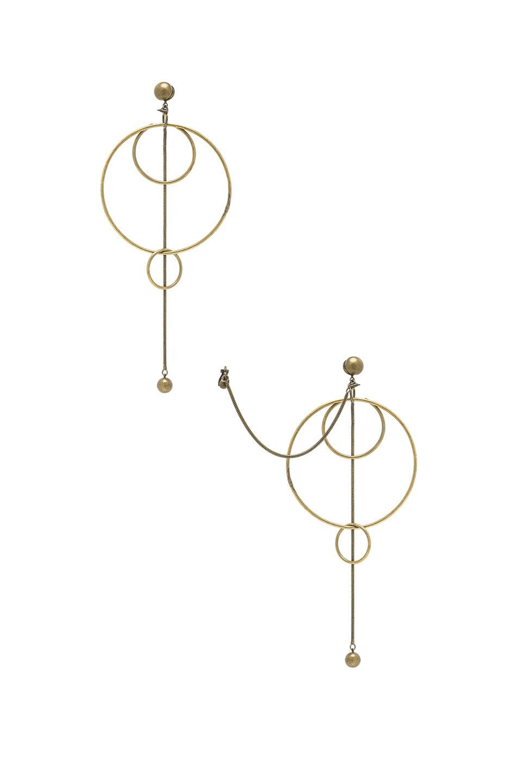 Image 1 of Zimmermann Suspended Link Earrings in Antique Brass