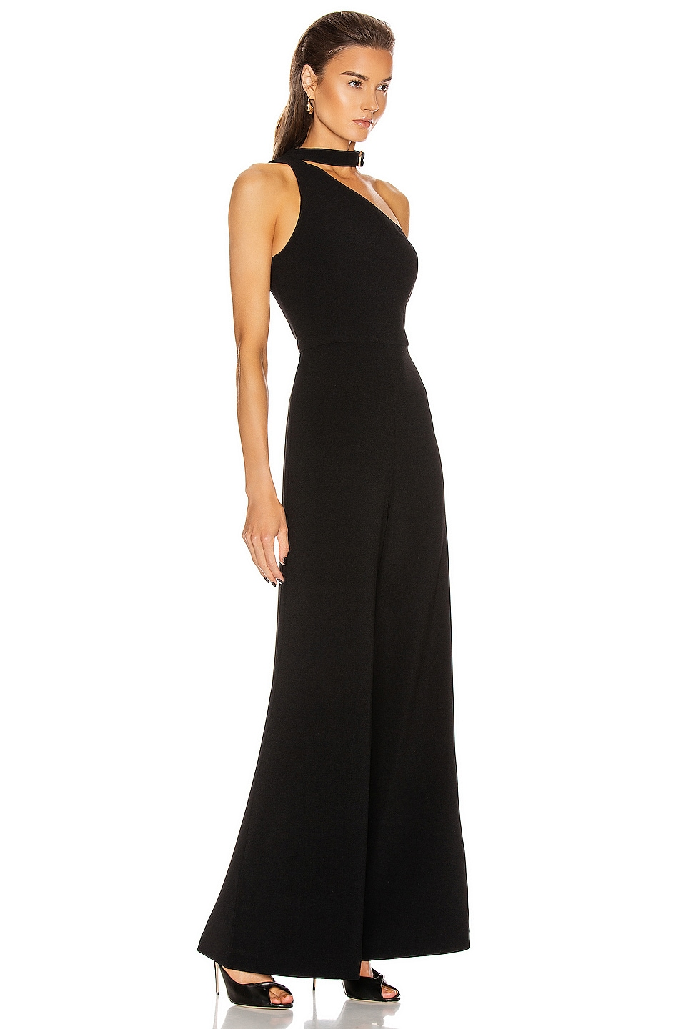 Image 2 of Zimmermann Neck Tie Jumpsuit in Black