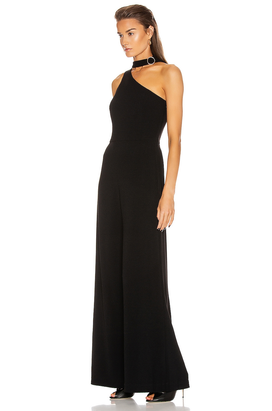 Image 3 of Zimmermann Neck Tie Jumpsuit in Black