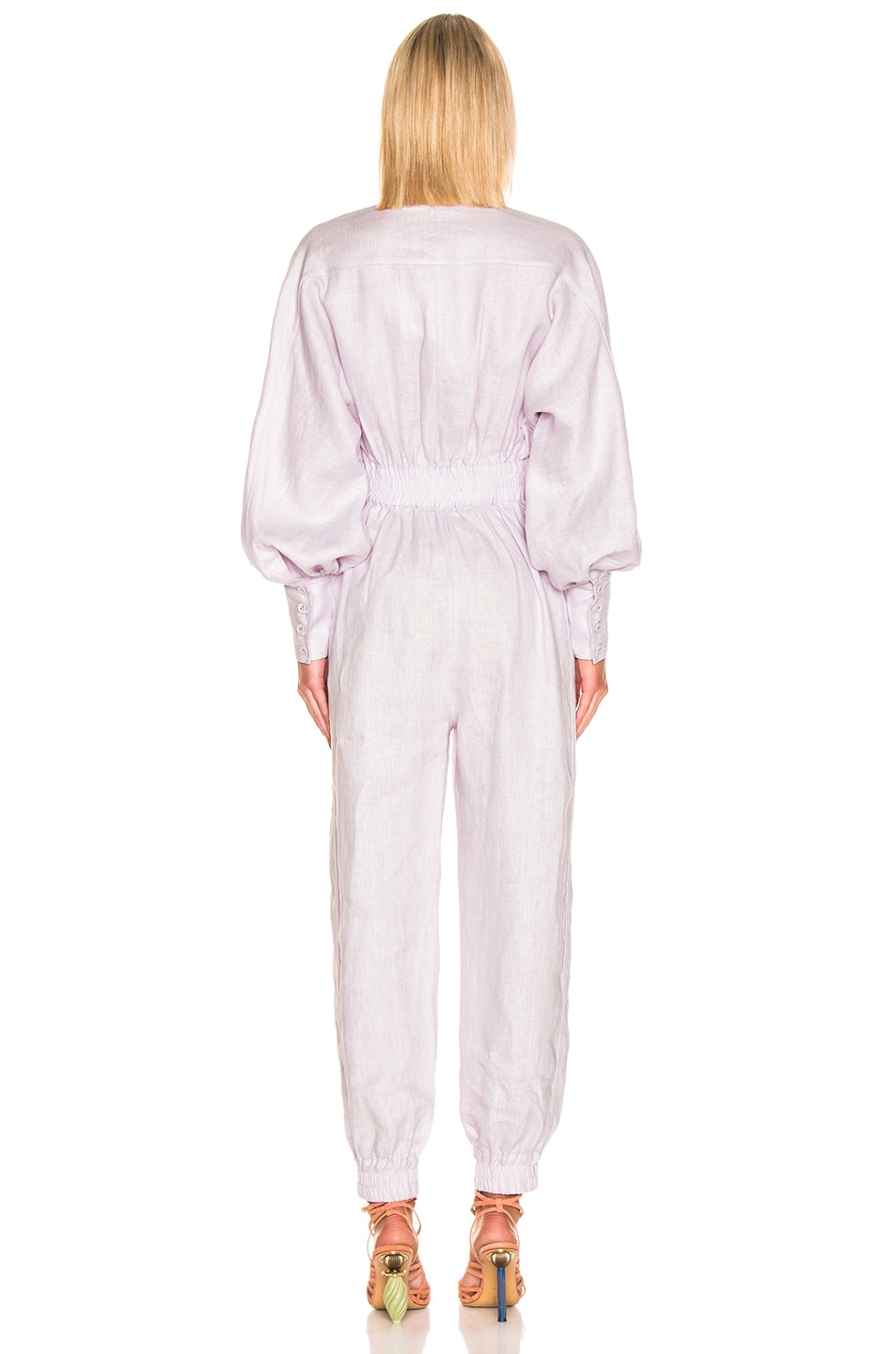 Image 3 of Zimmermann Ninety Six Racer Boilersuit in Lavender