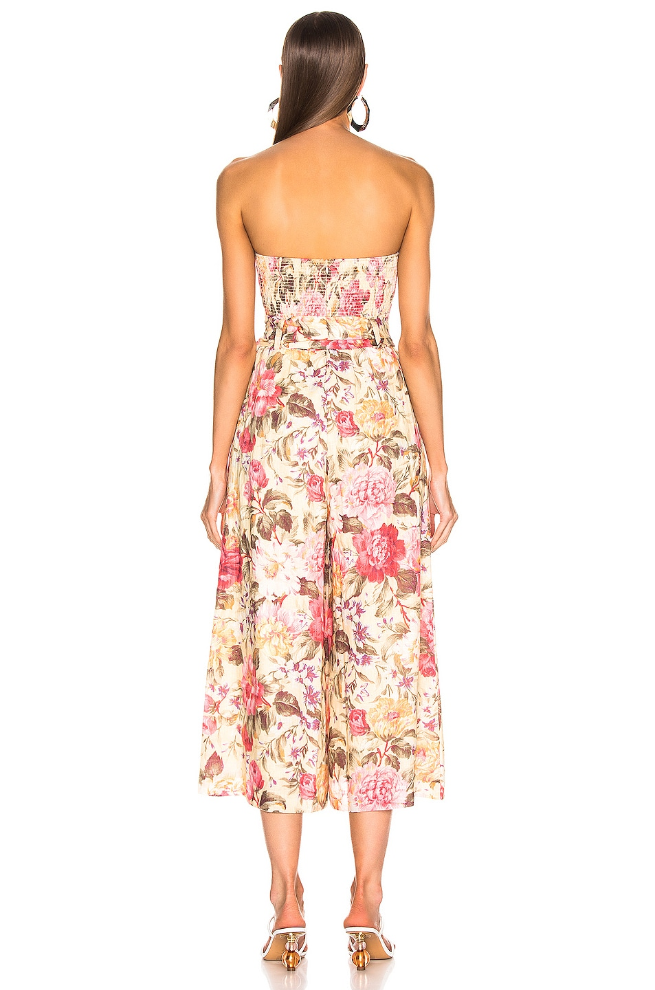 Image 3 of Zimmermann Honour Strapless Jumpsuit in Lemon Floral