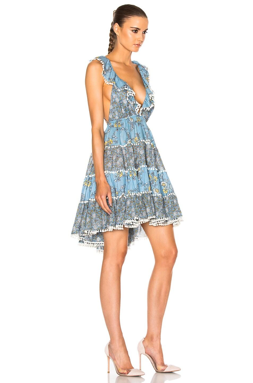 8e16128085e Image 4 of Zimmermann Caravan Tiered Sun Dress in Splice