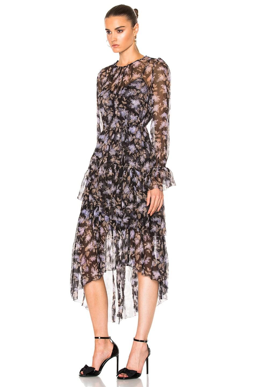 85e38669944 Image 2 of Zimmermann Stranded Tier Dress in Black Lavender Floral