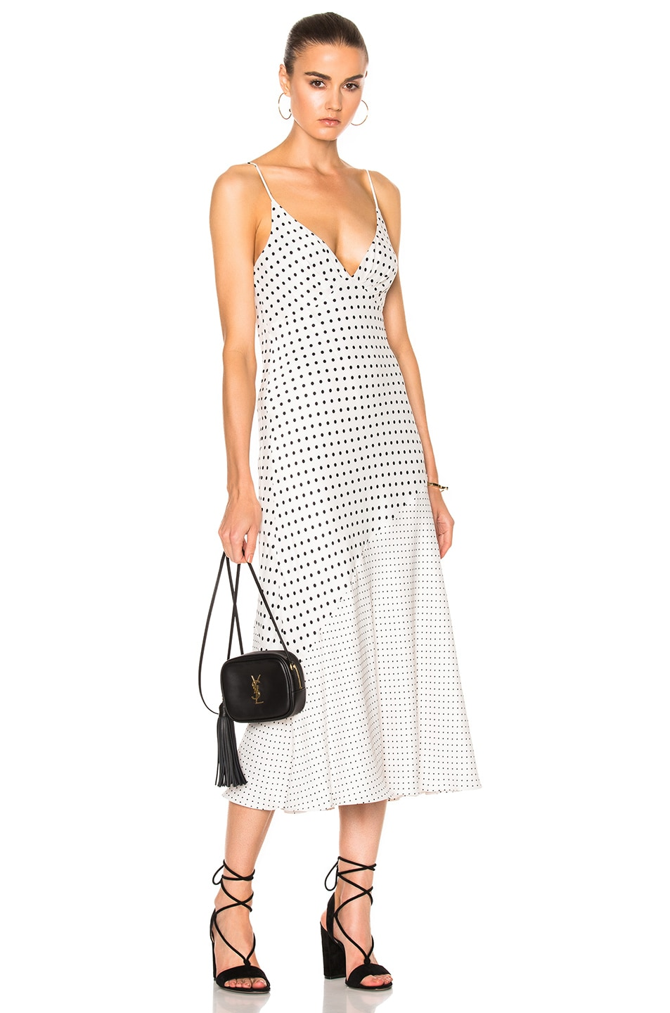 69a2b560ff9b Image 1 of Zimmermann Stranded Tuck Slip Dress in Pearl Dot
