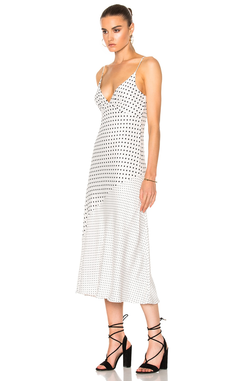 a3056fb623a9 Image 2 of Zimmermann Stranded Tuck Slip Dress in Pearl Dot