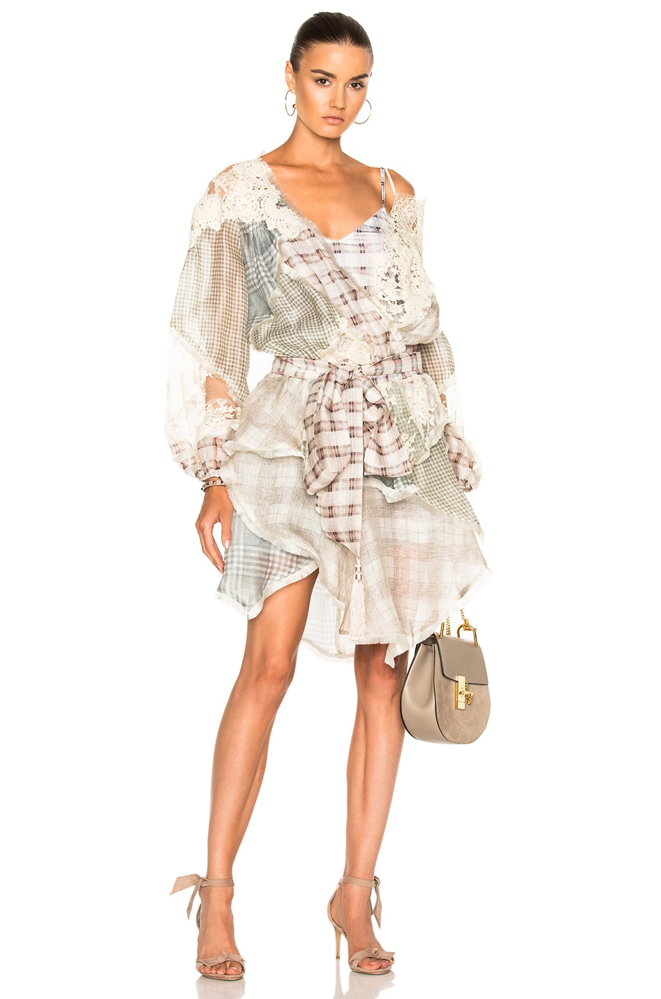 04a220265a Image 1 of Zimmermann Cavalier Plaid Dress in Spliced