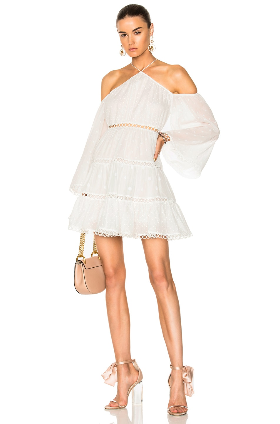 Image 1 of Zimmermann Jasper Dot Floating Dress in White