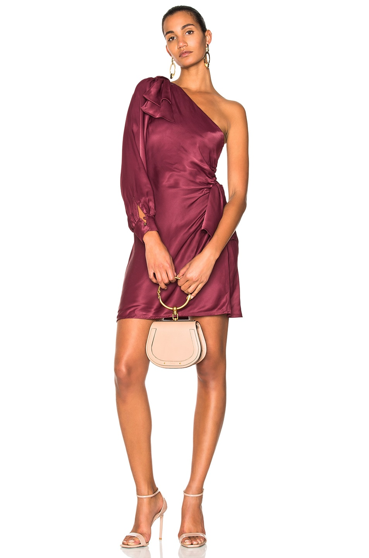 Zimmermann Bow Mini Dress in Red