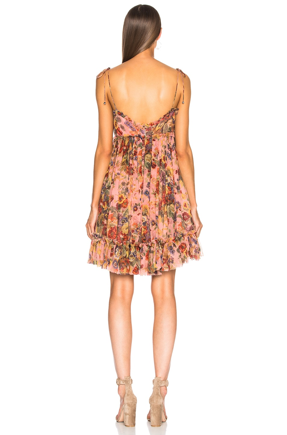 0cad3e1dd10e Image 3 of Zimmermann Lovelorn Frill Mini Dress in Pink Floral