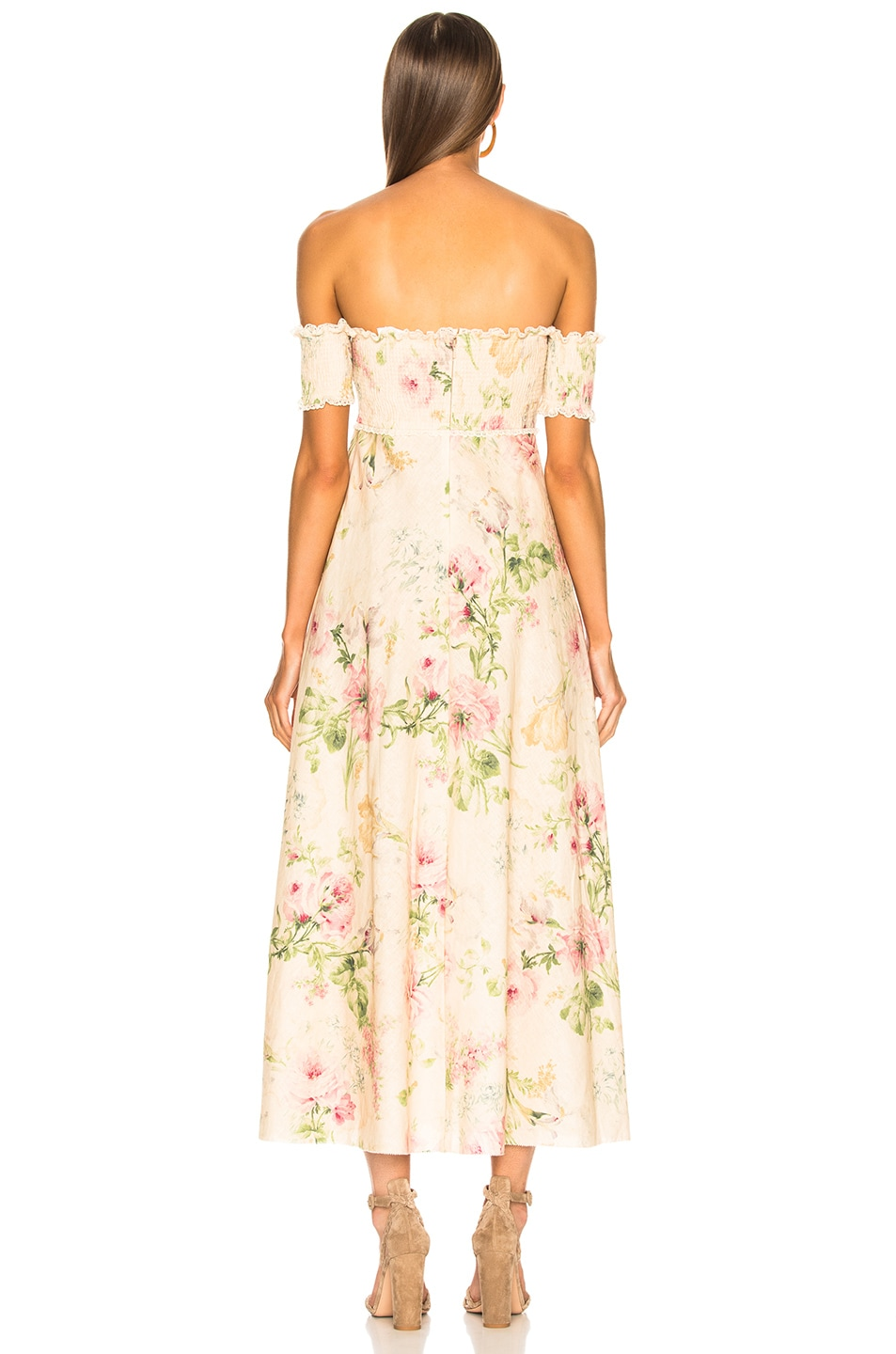 c5e9469d4ab5 Image 3 of Zimmermann Iris Shirred Bodice Maxi Dress in Cream Floral