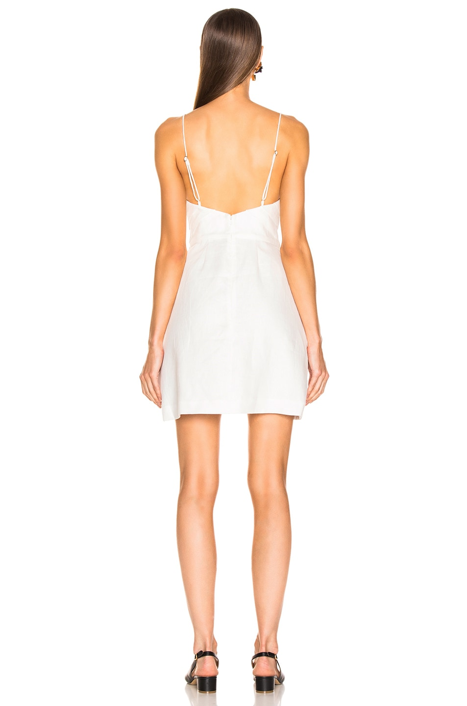 Image 3 of Zimmermann Corsage Bow Mini Dress in Ivory