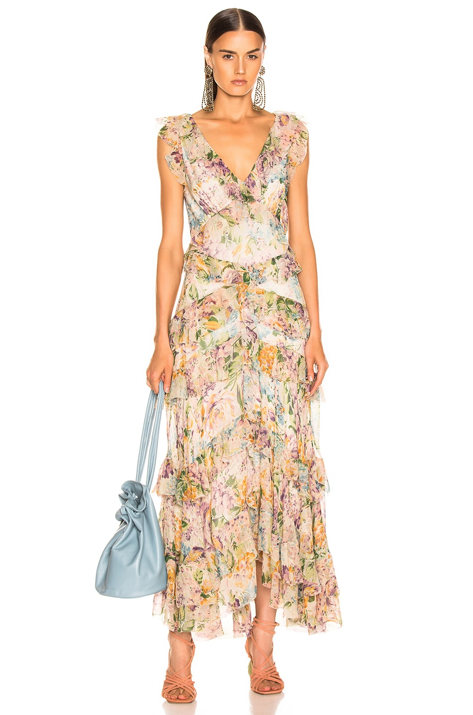 Image 1 of Zimmermann Ninety Six Flutter Dress in Tulip Floral