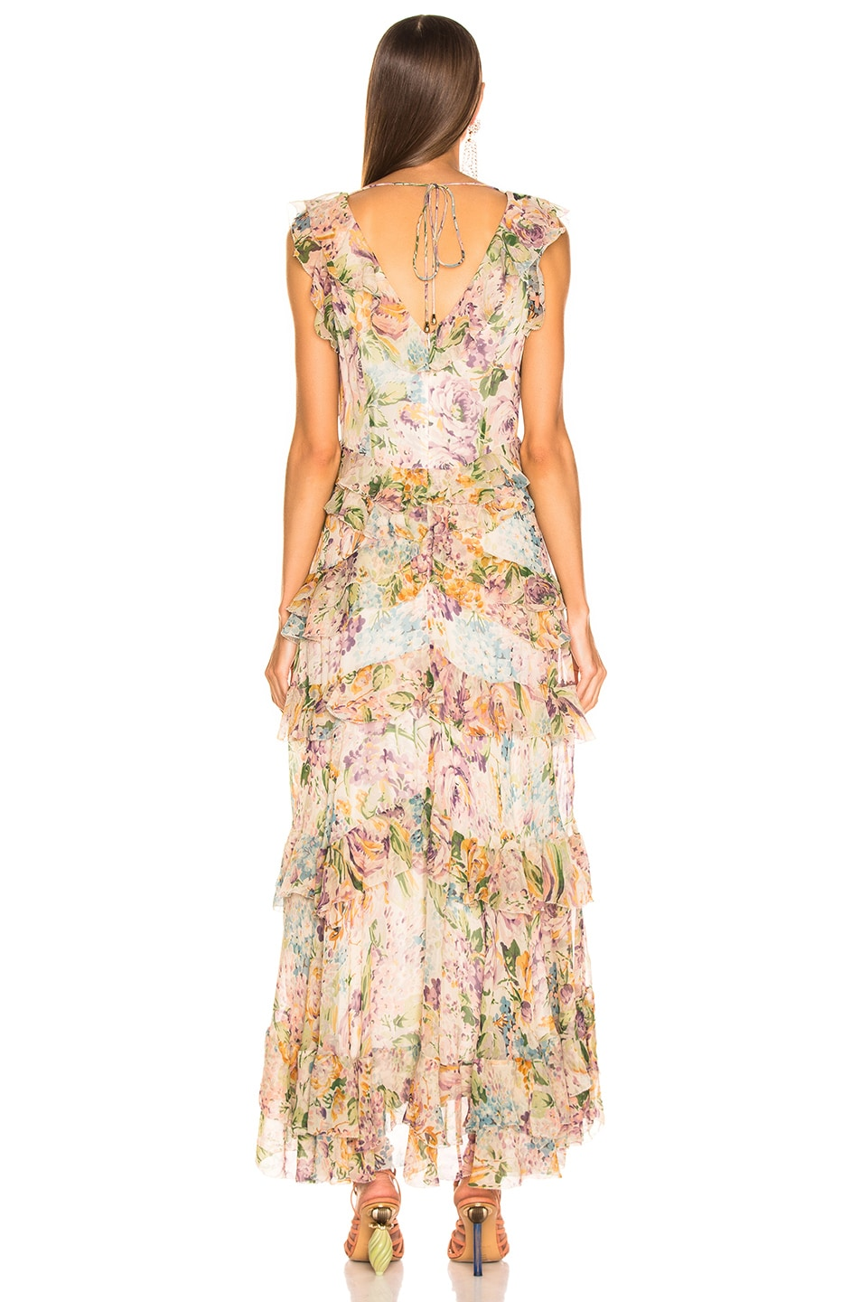 Image 3 of Zimmermann Ninety Six Flutter Dress in Tulip Floral