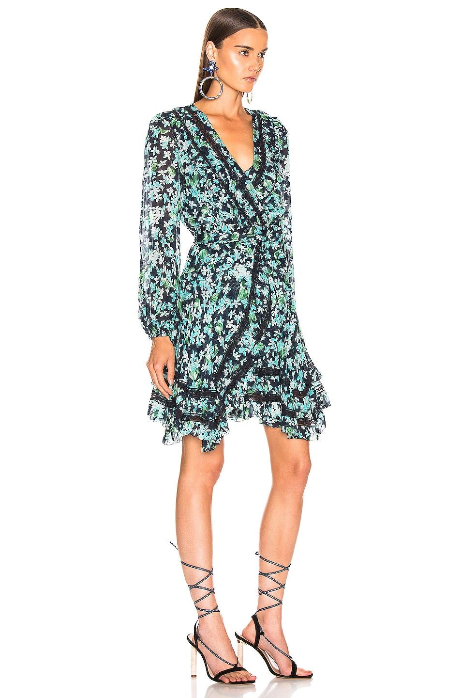 Image 2 of Zimmermann Moncur Wrap Mini Dress in Meadow Floral