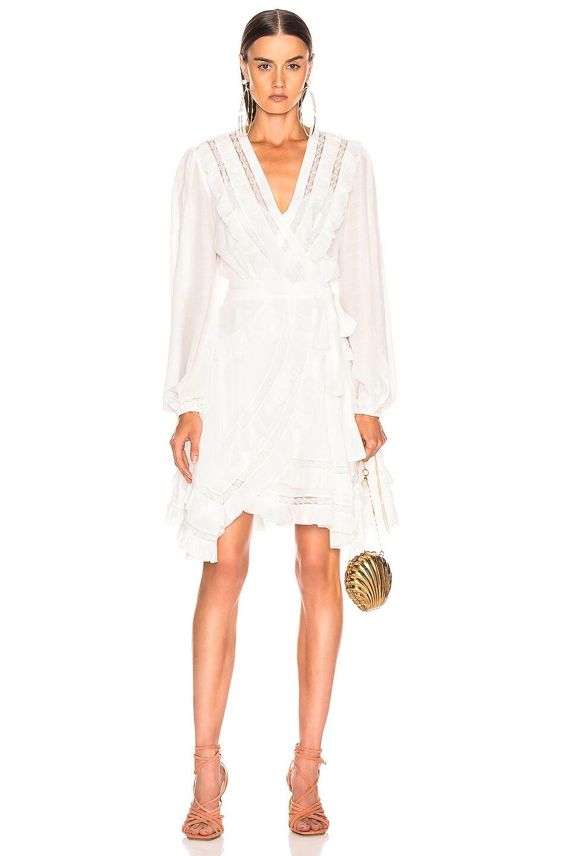 Zimmermann Dresses Moncur Frill Wrap Short Dress