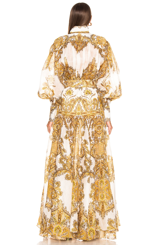 Image 3 of Zimmermann Zippy Billow Dress in Golden Paisley