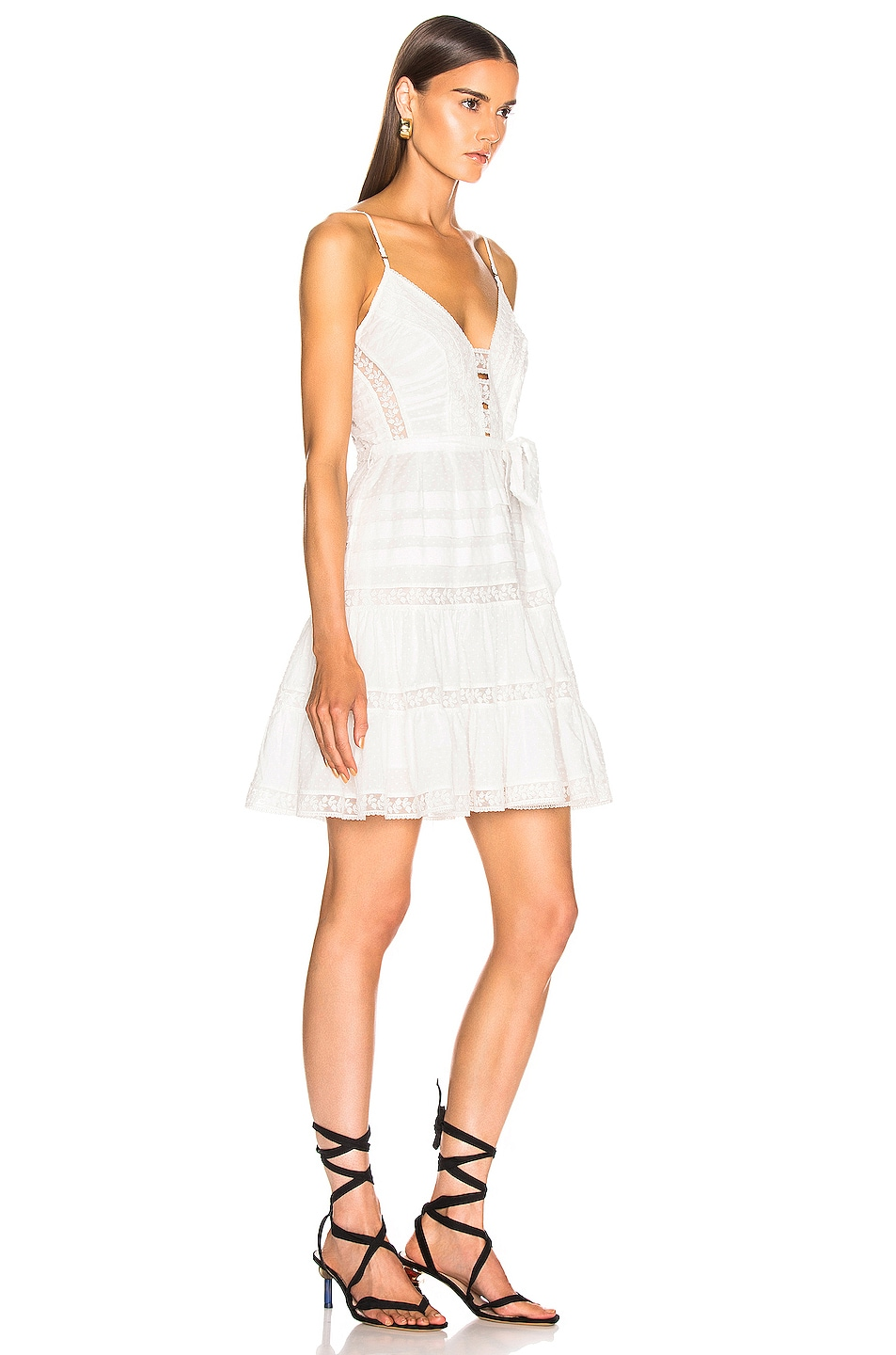 Image 2 of Zimmermann Honour Scallop Short Dress in Ivory