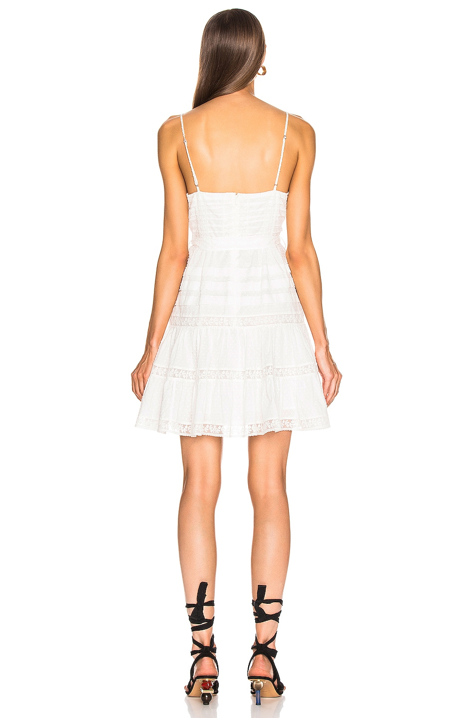 Image 3 of Zimmermann Honour Scallop Short Dress in Ivory