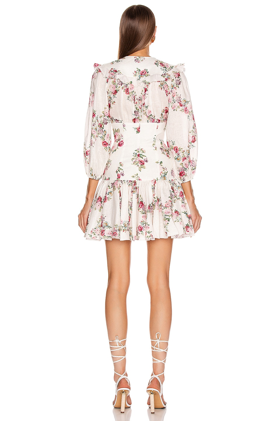 Image 3 of Zimmermann Honour Corset Short Dress in Cream Floral
