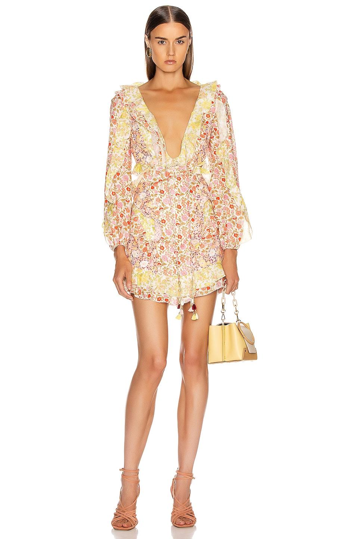 Image 1 of Zimmermann Goldie Short Dress in Spliced