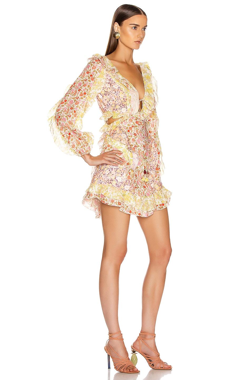 Image 2 of Zimmermann Goldie Short Dress in Spliced