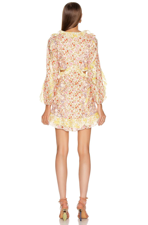 Image 3 of Zimmermann Goldie Short Dress in Spliced