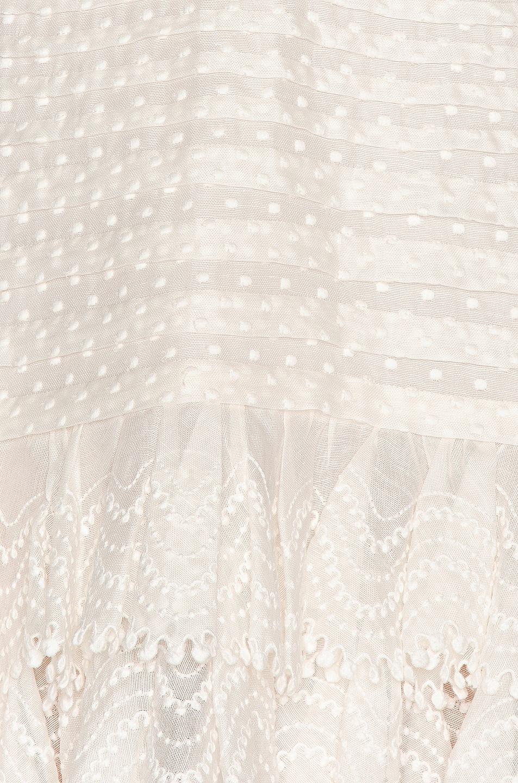 Image 4 of Zimmermann Super Eight Off Shoulder Mini Dress in Ivory