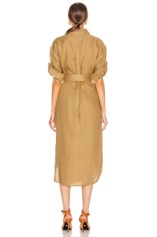 Image 3 of Zimmermann Super Eight Safari Midi Dress in Khaki