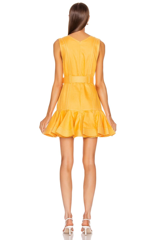 Image 3 of Zimmermann Super Eight Safari Mini Dress in Mango