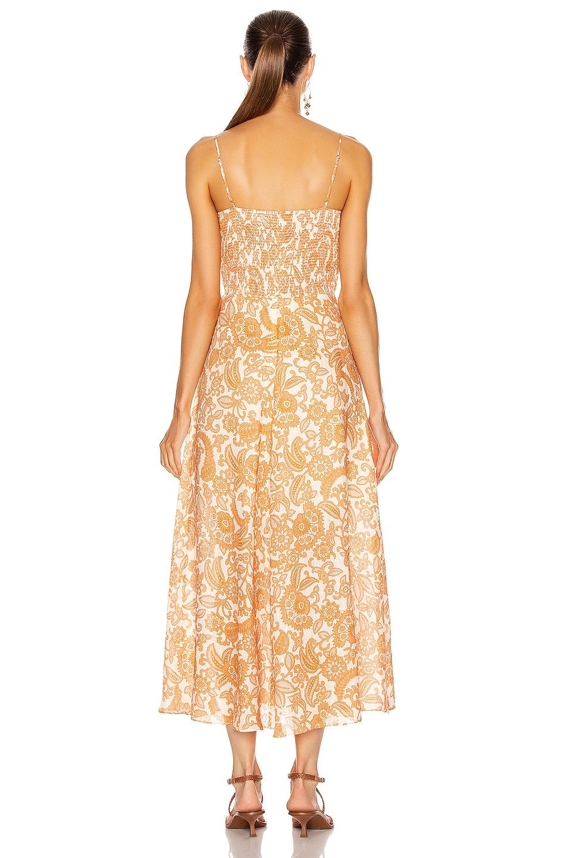 Image 3 of Zimmermann Peggy Off Shoulder Tie Dress in Orange Paisley