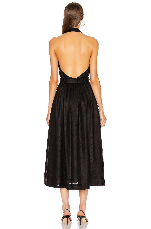 Image 3 of Zimmermann Bonita Halterneck Long Dress in Black