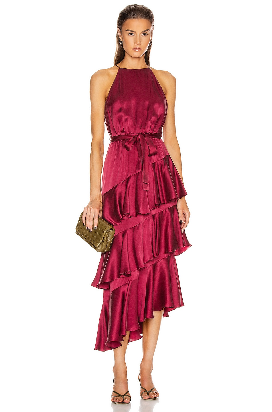 Image 1 of Zimmermann Silk Picnic Dress in Berry