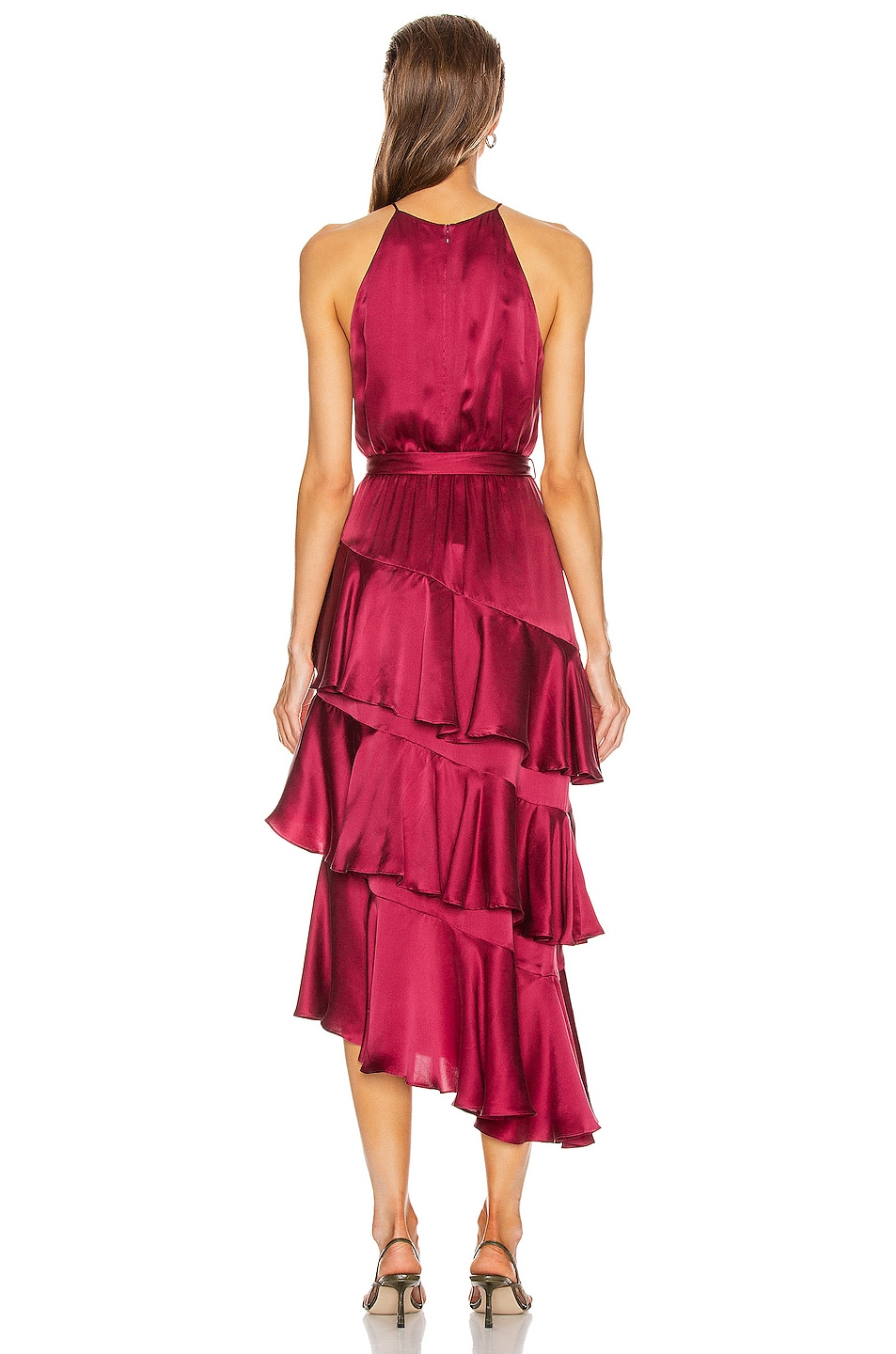 Image 4 of Zimmermann Silk Picnic Dress in Berry