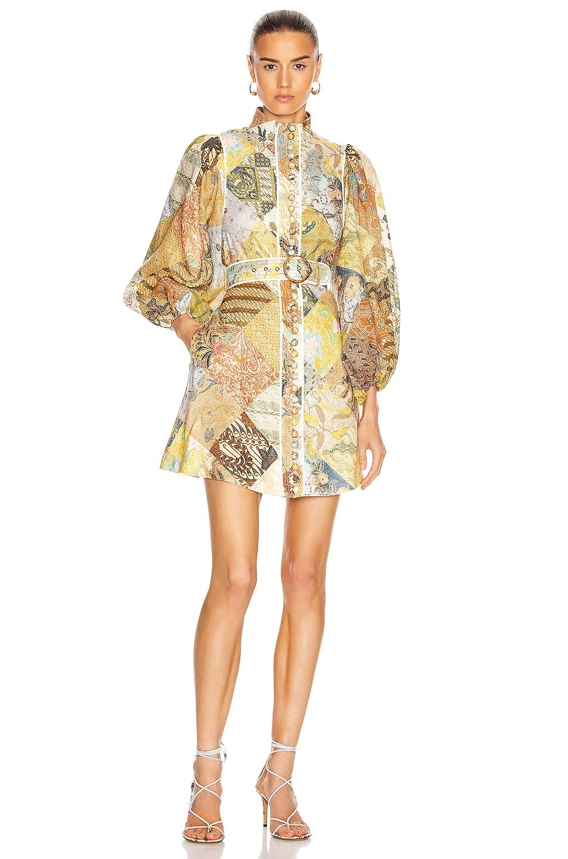 Image 1 of Zimmermann Brightside A-Line Mini Dress in Batik Patch