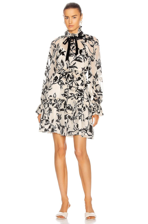 Image 1 of Zimmermann Ladybeetle Swing Mini Dress in Cream Mystic Eye