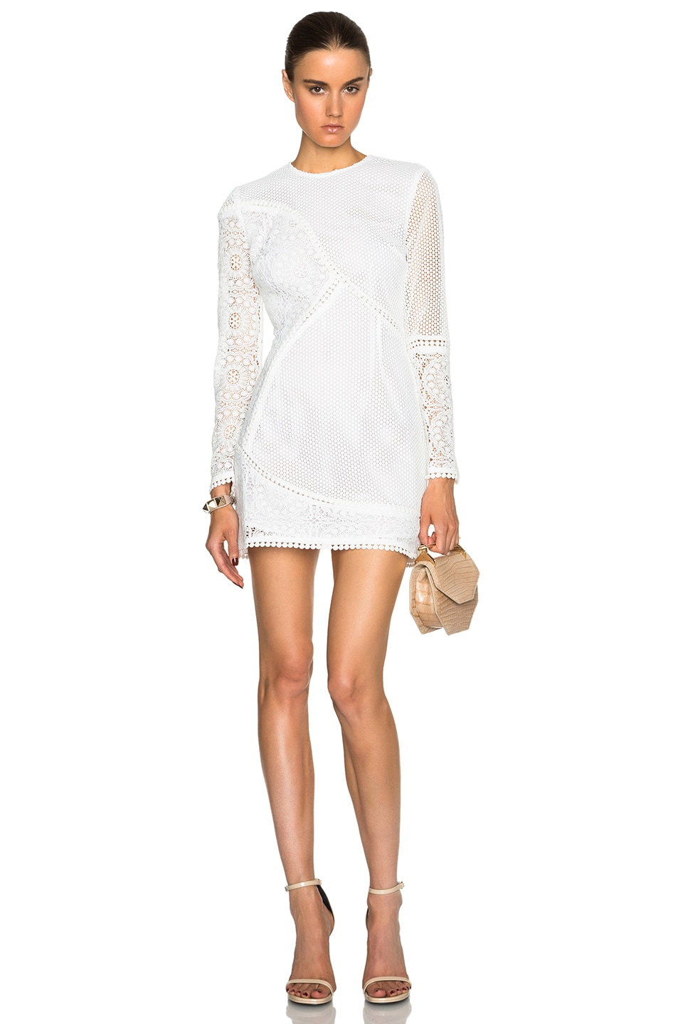 Image 1 Of Zimmermann Anais Lace Dress In Ivory