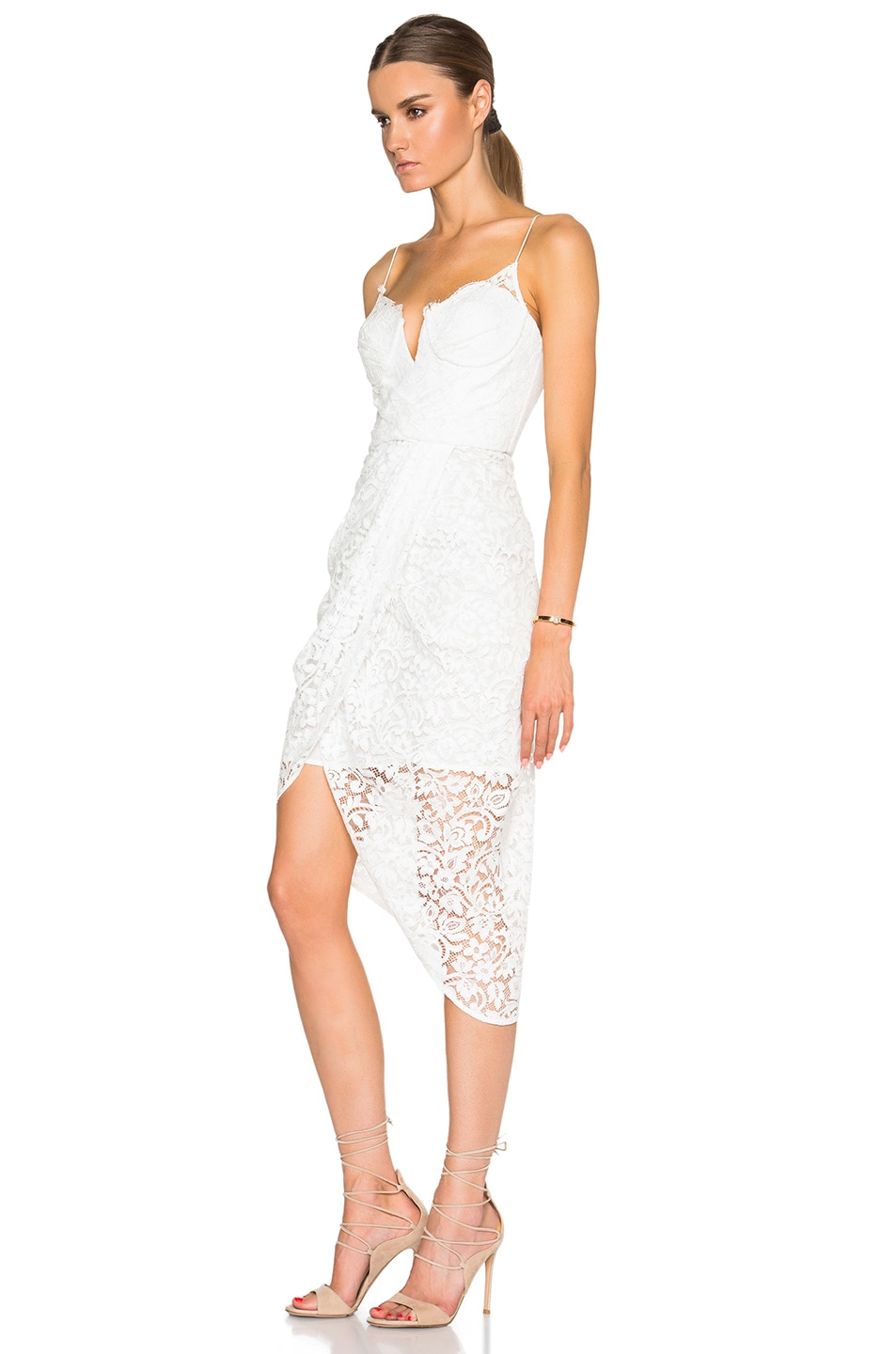 Image 2 Of Zimmermann Arcadia Lace Dress In Winter White